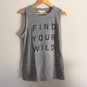 Spiritual Gangster Find Your Wild Tank Gray